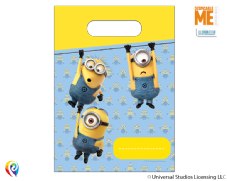 6 Minion Plastic Party/Loot Bags